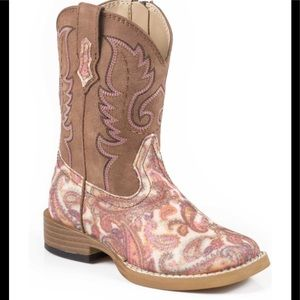 Roper paisley toddler cowgirl boots size 8 EUC